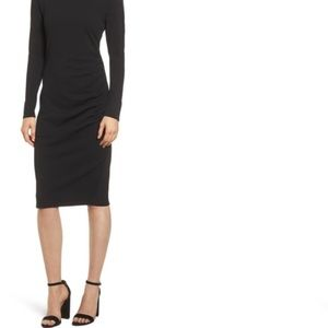 Chelsea28 Black Long Sleeve Cocktail Dress